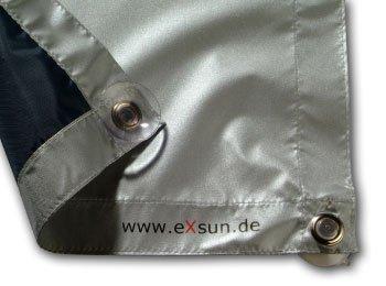 Exsun Roto Sonnenschutz Rollo Dachfenster Verdunkelung Hitzeschutz Thermofix (unbedingt Glasfläche innen ausmessen und vergleichen)! (Roto 05/07 = 32x56cm, blau)
