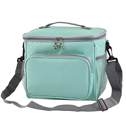 Family cool bag, borsa termica borse per il pranzo, pieghevole, impermeabile, borsa termica per lavoro, scuola, picnic, campeggio, spiaggia, barbecue, 25.5x 18x 22.5cm, l, blue-green, taglia libera