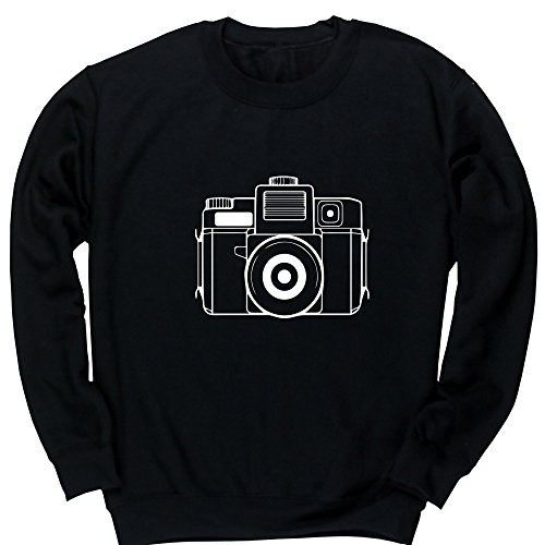 Hippowarehouse Illustrated Camera Kids Children's Unisex Jumper Sweatshirt Pullover