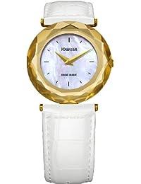 Jowissa J1.003.M - Reloj analógico de cuarzo para mujer con correa de piel, color blanco
