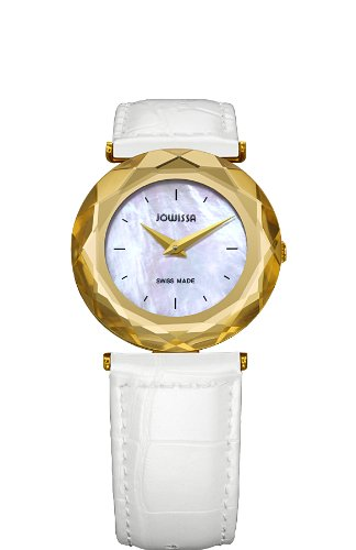 Jowissa - J1.003.M - Montre Femme - Quartz Analogique - Bracelet Cuir Blanc