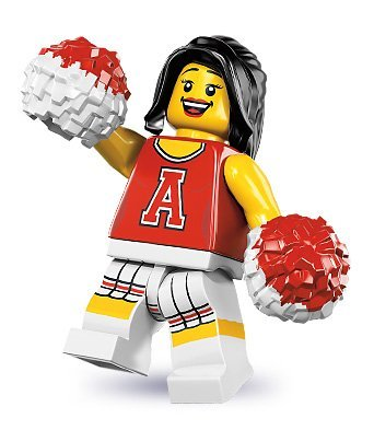 LEGO Minifigurens Serie 8 - Rot CHEERLEADER (Factory Sealed Pack)