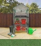 Nuevo Invernadero Jardín marco frío–Estantería de 3baldas verduras Roll Up para ruedas