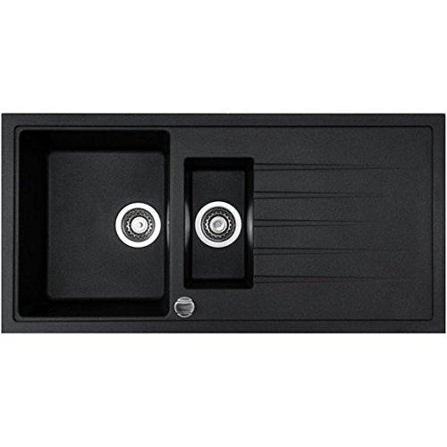 granitspule-v1000-schwarz-inkl-drehexcenter-ab-und-uberlaufgarnitur-reversibel-ab-60-er-unterschrank