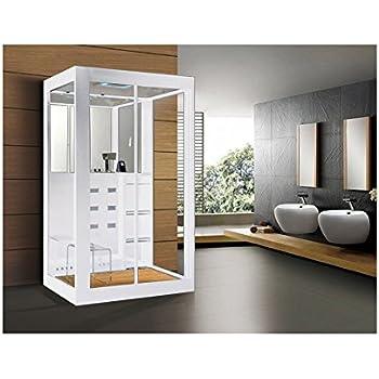 home deluxe white luxory xl duschtempel inkl dampfsauna und komplettem zubehr - Infrarotkabine Kombiniert Mit Dusche