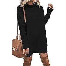 b22d20e84534f7 Damen Pulli Pullover Rock Longshirt Kleider Frühling Herbst Winterkleider  Hemd Kleid Langarm Mode Lose Sweatkleid Sweatshirt