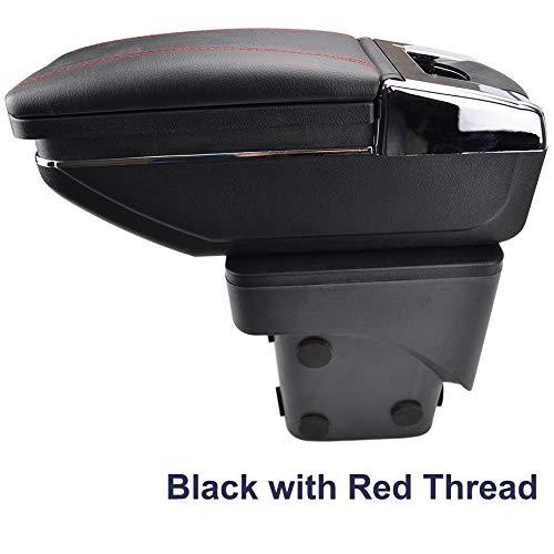 Reposabrazos giratorio para Focus 2 Mk2 2005-2011 rosca negra caja de almacenamiento reposabrazos