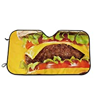 BetterShopDay Cheeseburger Car Windshield Sunshade Universal Fit Keep Your Vehicle Cool. UV Sun and Heat Reflector