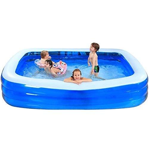 Faltbare Badewanne, Aufblasbare Badewanne, 365 cm Großer Aufblasbarer Pool Kinderplanschbecken Für Große Kinder Erwachsenenpool Sandpool GAOFENG (Color : Blue, Size : 366 * 193 * 65CM)