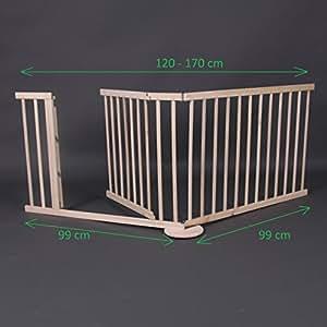 Flessibile cancelletto max 120 170cm legno 2 pannelli for Cancelletto sicurezza bambini