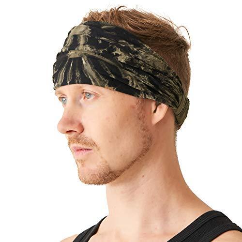 0363a34a10f7dd CHARM Tie Dye Stirnband Hippie Elastisch Bandana Kopf Abdeckung Wickeln Für  Männer & Frauen Psychedelisch Blume Muster 60\'S 74\'S Retro Bohemien Boho D