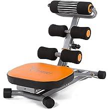 Fitfiu AB-FIT001 - Banco plegable de abdominales y musculación, color naranja