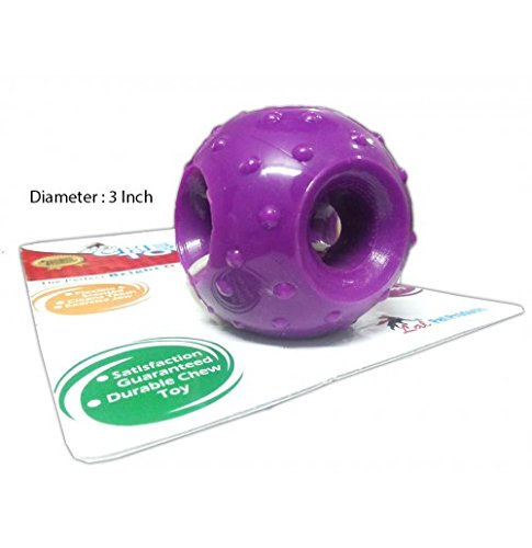 Super Dog Rubber Hole Ball Toy (Large)