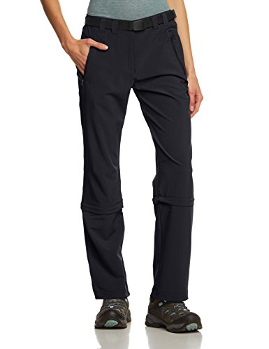 CMP Damen Hose Zip Off, antracite, D44, 3T51346