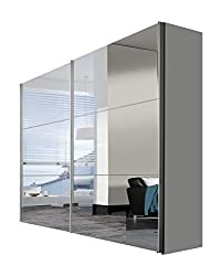 Express Möbel Schwebetürenschrank 2-türig Bianco Spiegel Weiß BxHxT 250x216x68 in verschiedenen Farben und Größen