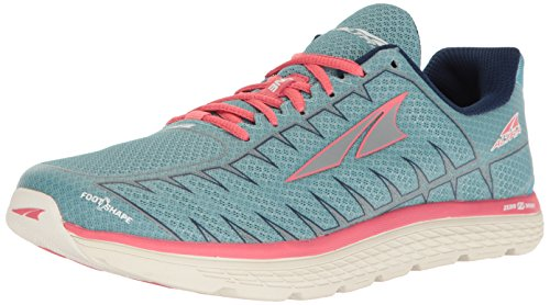 Altra Women One V3 Neutral Running Shoe Running Shoes Light Blue - Coral 7