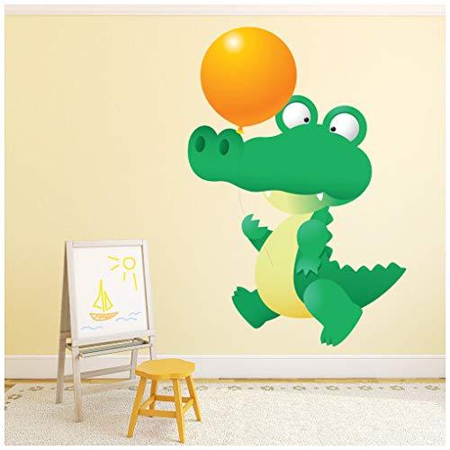 azutura Niedlich Krokodil & Ballon Wandtattoo Alligator Wand Sticker Kindergarten Wohnkultur Erhältlich in 8 Größen Extraklein Digital (Alligator-wandtattoo)