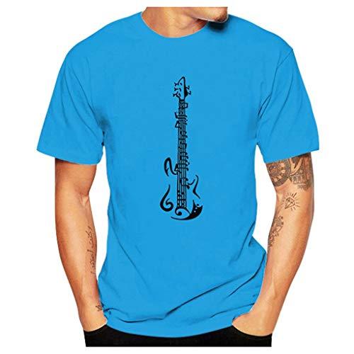 Binggong Herren T Shirts Katze Muster Funny Tee Tops Aufdruck Kurzarm Rundhals Sweatshirt Lose Beiläufig Tops Oberteil Bluse Sommer Frühling Streetwear -