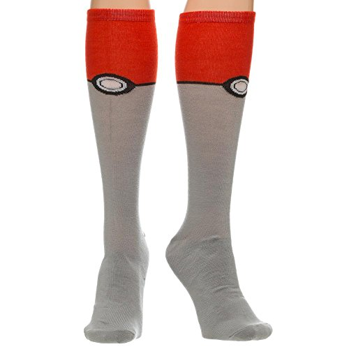Pokemon-Pokeball-Knee-High-Calcetines