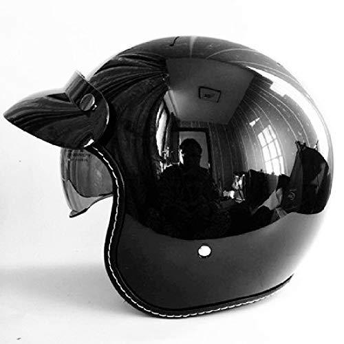 Berrd Casco moto retrò Casco aperto Casco casco retrò Casco cross rosso e bianco M