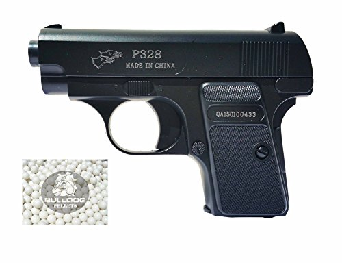 Softair Federdruck Pistole Colt 25 Stil Pistole , Double Eagle P328, GRATIS 2000 BULLDOG BBS 0.20G (Black) (Double Eagle Softair)