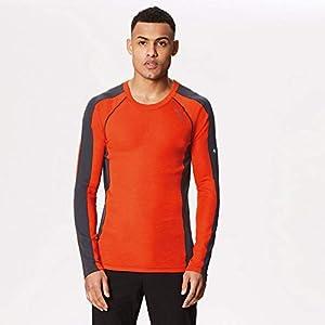 Regatta Herren Beru Jersey, Blaze Orange/Seal Grey, X-Large