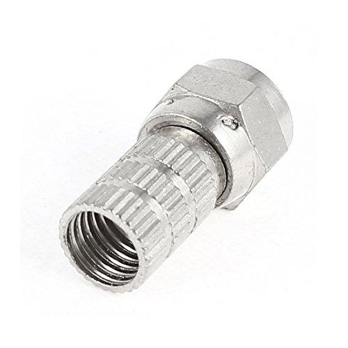 Silber-Ton-F-Typ Crimp-Anschluss für Quad-Schild RG6 Kabel