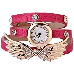 niceEshop(TM) Angel Flügel Design PU Leder Armband Stil Uhr