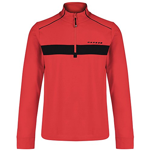 Dare 2b Sanction Core Stretch Midlayer Herren Sport Cover-Up Pullover Fiery Red
