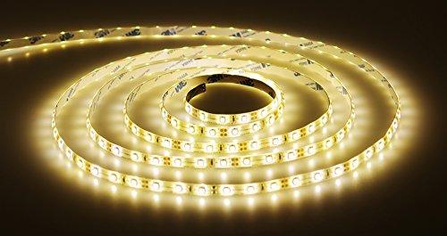 Preisvergleich Produktbild LED Streifen 5m warmweiß Set mit Steckernetzteil (LED Strip 5 Meter, 60LED/m, IP20, 12V SELV, 36W-Netzteil) - ideal als Ambiente-Beleuchtung, Wohnzimmer-Beleuchtung, Schlafzimmer-Beleuchtung, Kinderzimmer-Beleuchtung, langlebig, günstig und energieeffizient