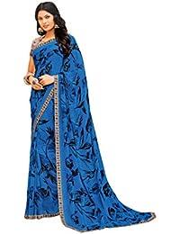 af5b32b5305 Laxmipati Rangtaari Printed Saree (Blue) by Indians Boutique