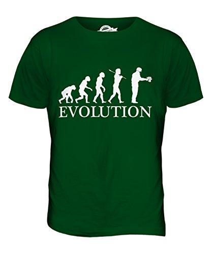 CandyMix Airbrush Evolution Des Menschen Herren T Shirt Flaschengrün
