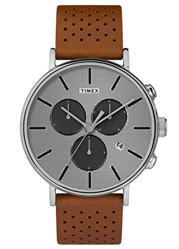 Timex Herren Chronograph Quarz Uhr mit Leder Armband TW2R79900