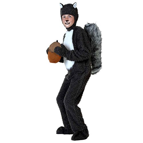 LPATTERN Disfraz Animal para Niños Unisex Disfraz Mono de Cosplay con Capucha para Carnaval Halloween, Ardilla, L/Altura Recomendada:105-125cm