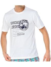 SCHIESSER Herren T-Shirt, kurzarm, Rundhals, Mix & Relax, weiss, 138917
