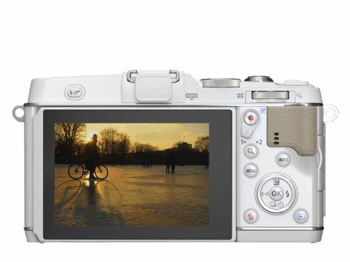 Olympus E-P5 Systemkamera (16 Megapixel MOS-Sensor, True Pic VI Prozessor, 5-Achsen Bildstabilisator, Verschlusszeit 1/8000s, Full-HD) Gehäuse weiß - 5