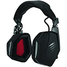 Mad Catz F.R.E.Q. 9 Binaurale Diadema Negro auricular con micrófono - Auriculares con micrófono (PC/Juegos, Binaurale, Diadema, Negro, Alámbrico/Inalámbrico, Circumaural)