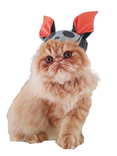 ner Hund & Katze Gremlin Alien Monster Fledermaus Ohren Spitzohren Gepolsterte Halloween klein Katze Hund Hat (Monster Hüte Für Halloween)