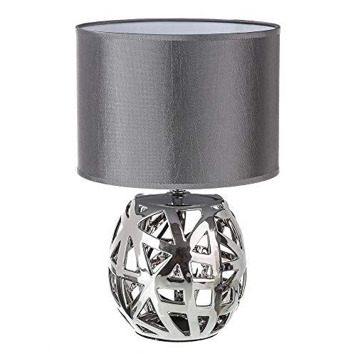 Lámpara de mesa árabe plateada de cerámica para salón Arabia