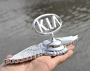 Incognito-7 3D Laxury KIA Chrome Metal Car Front Hood Ornament Car Bonnet Sticker Badge KIA Logo KIA Badge KIA Emblem KIA Decal KIA Sticker for All KIA Cars