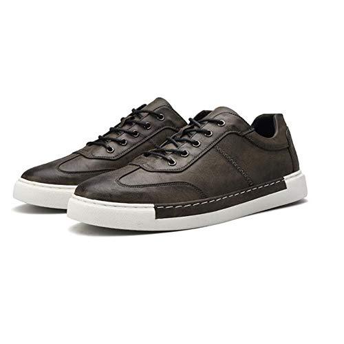 ECSD Mens Oxfords Schuhe PU Leder Kleid Schuhe Für Männer Business Walk Casual Sneaker (Farbe : Gray, größe : EU42/UK8.5/CN43) - Mens Kleid-schuhe