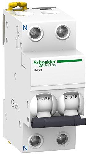 Schneider Electric A9K17610 Interruptor Automático Magnetotérmico, Ik60N, 1P+N, 10 A, Curva C