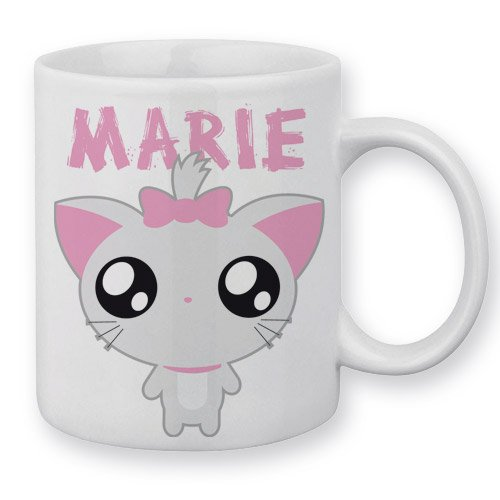 Mug Marie le Chat (Aristochats) Chibi Kawaii by Fluffy Chamalow - Fabriqué en France - Chamalow Shop