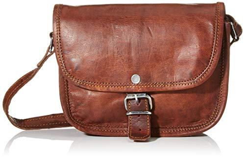 Gusti Umhängetasche Leder - Nature Handtasche Mary L Damen Ledertasche Tablettasche Vintage Ziegenleder Braun 9,7\'\'
