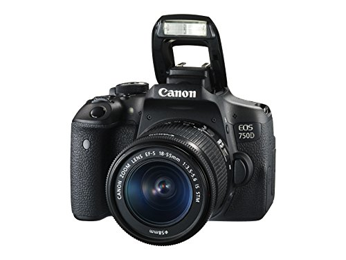 Canon EOS 750D Digital SLR Camera with 18 - 55 mm Lens