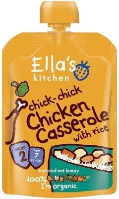 Ella's Kitchen Chick-Chick Chicken Casserole With Rice Stage 2 From 7 Mths 130G by Ella's Kitchen