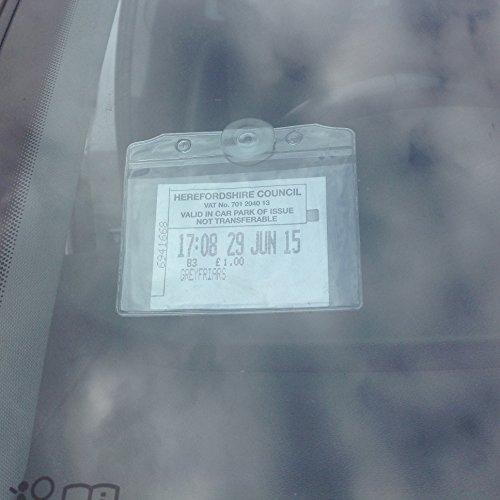 Schwarz REFLECTS Parkscheinhalter// Notizzettelhalter mit Saugn/äpfen und Einkaufswagenchip OLATHE