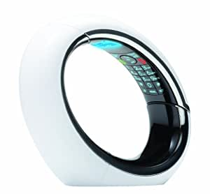iDECT Eclipse Plus Single DECT Phone with Answer Machine - White/Black