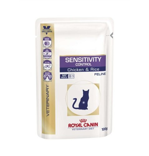 Royal Canin Veterinary Diet Feline Sensitivity Control Huhn, 4er Pack (4 x 1.2 kg)