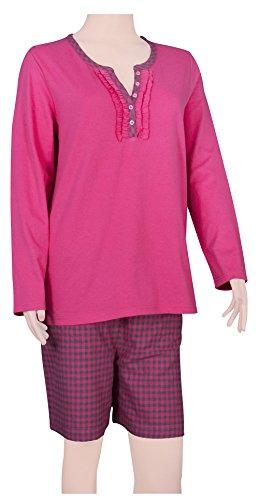 Ninety-One - Ensemble de pyjama - Femme Multicolore Multicoloured Medium FUCHSIA/ FUCHSIA-CHARCOAL CHECKS
